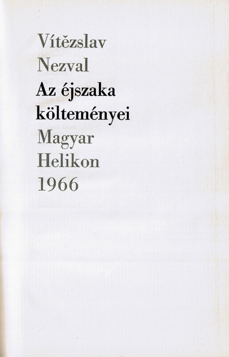Hlavní titul (Az éjszaka költeményei, 1966)