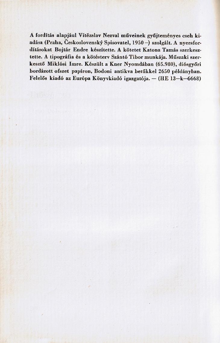 Tiráž (Az éjszaka költeményei, 1966)