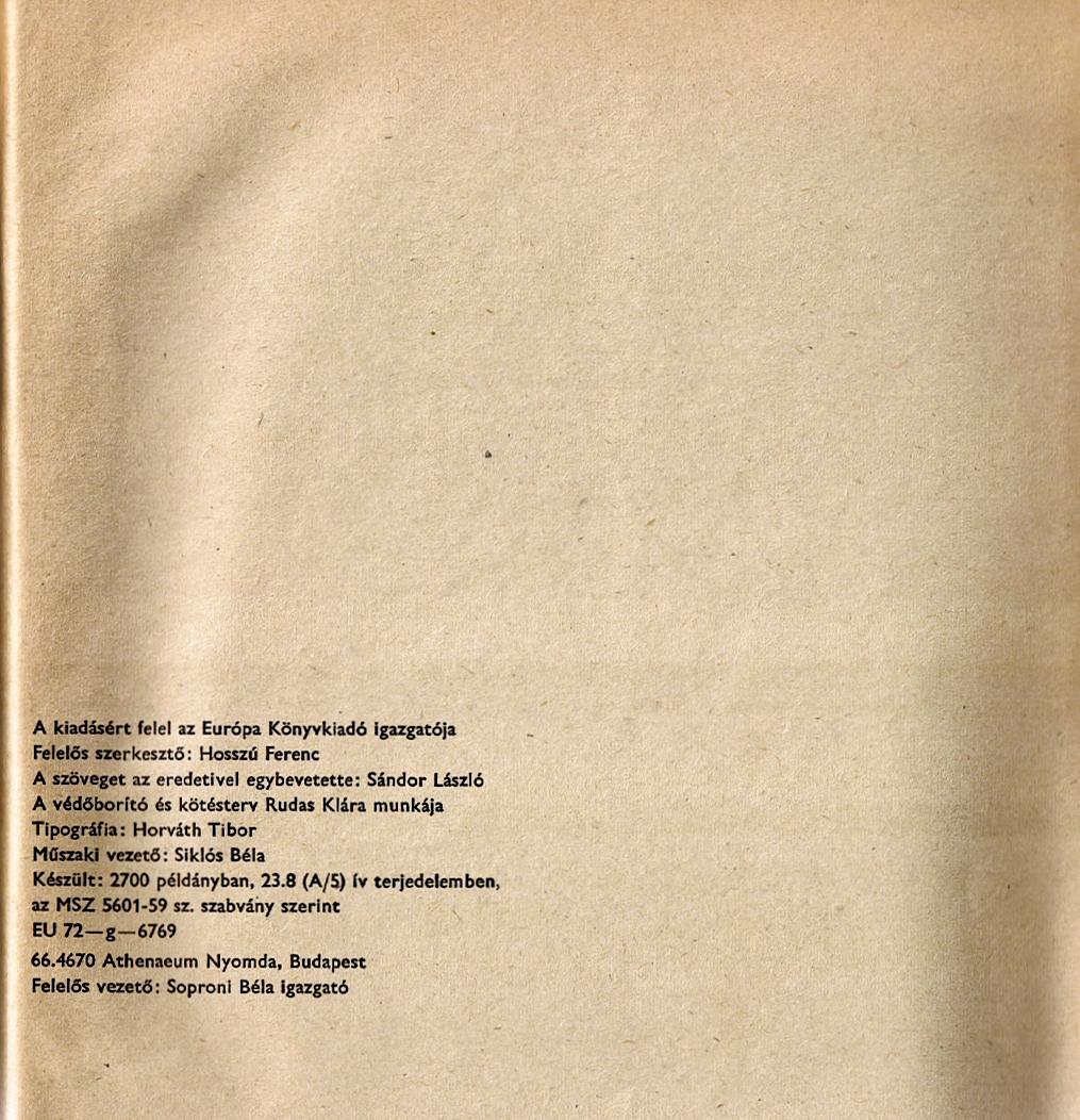 Tiráž (Életemből, 1967)