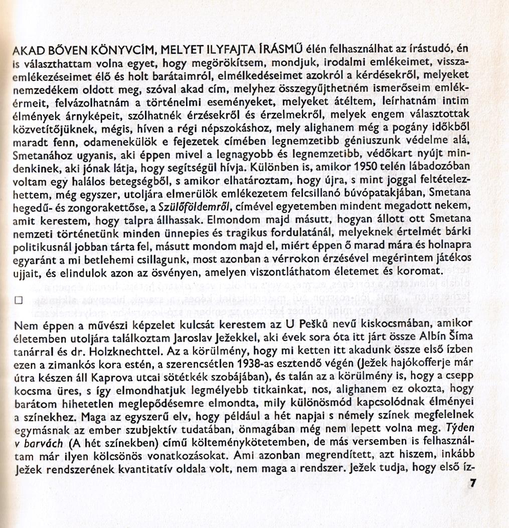 Ukázka z knihy (Életemből, 1967)