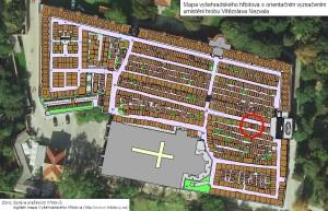 Mapa hřbitova (celkový pohled)
